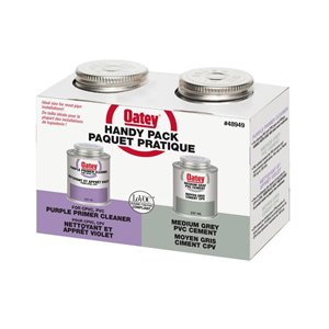 Oatey 8-fl oz PVC cement and primer