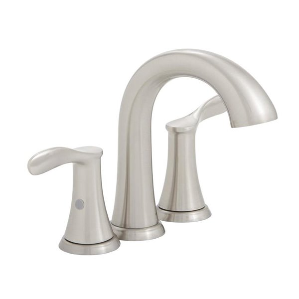 Swell Aquasource Rika Brushed Nickel Widespread 2 Handle Bathroom Faucet Interior Design Ideas Gresisoteloinfo