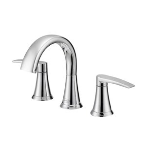 Jacuzzi Lyndsay Chrome 2-Handle Widespread WaterSense Bathroom Sink Faucet with Drain (Valve Included)
