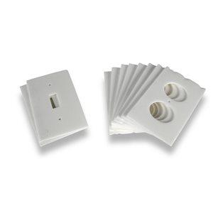 Climaloc White Polypropylene Switch/Outlet Weatherstrip (0.34-ft)