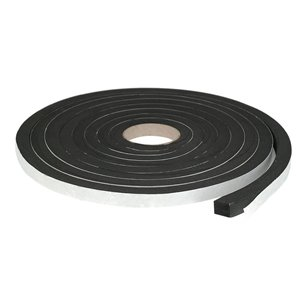 Climaloc plus Black Rubber foam Door Weatherstrip (10-ft)