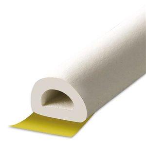 Climaloc plus White Rubber foam Door Weatherstrip (17-ft)