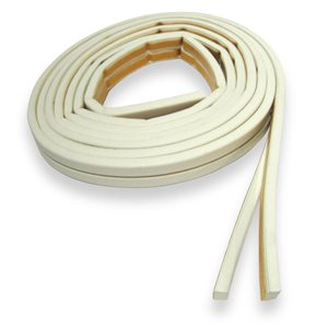Climaloc plus White Rubber Door Weatherstrip (17-ft)