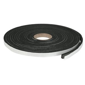 Climaloc plus Black Rubber foam Door Weatherstrip (17-ft)