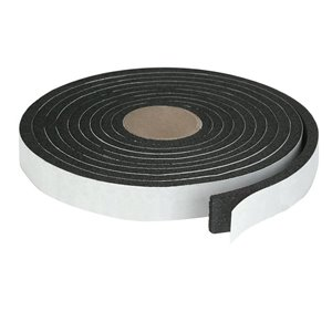 Climaloc plus Black Rubber foam Door Weatherstrip (10-ft)