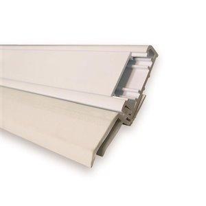 Climaloc plus White PVC Garage Weatherstrip (10-ft)