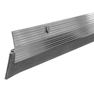 Climaloc Silver Rubber Door Weatherstrip (3-ft)