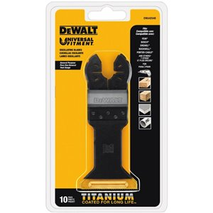 DEWALT Wide Titanium Oscillating Blade for Wood with Nails (DWA4204)