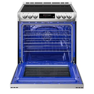 LG 30-in 6.3-cu ft 5-Element Induction Range with Self-Cleaning Convection Oven (Stainless Steel)