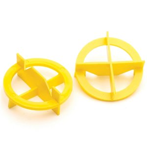TAVY 100-Pac 1-in W x 1-in L 1/32-in Yellow Plastic Tile Spacer