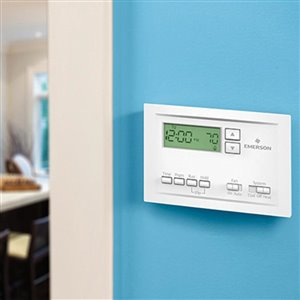 Emerson 5 1 1 Day Programmable Thermostat Lowe S Canada