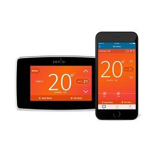 Emerson Sensi Black Smart Thermostat (Wi-Fi Compatible)