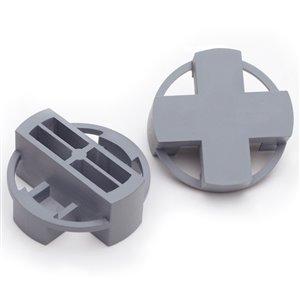 TAVY 100-Pac 1-in W x 1-in L 3/8-in Gray Plastic Tile Spacer