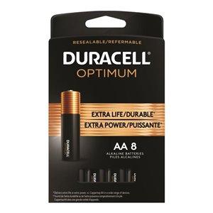Duracell Optimum AA Alkaline Batteries (8-Pack)