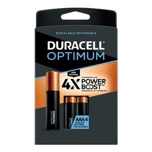 Duracell Optimum AAA Alkaline Batteries (4-Pack)