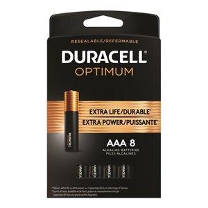 Duracell Optimum AAA Alkaline Batteries (8-Pack)