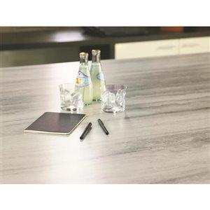 BELANGER Fine Laminate Countertops Laminate Countertop 72 In. x 25.5 In. color 3458-FX34 Travertine Silver