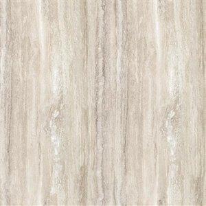 BELANGER Fine Laminate Countertops Laminate Return Splash Kit 25.5 In., 3458-FX34 Travertine Silver