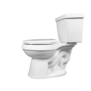 Project Source Round Two Piece 1.29 GPF Toilet White