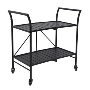 Style Selections Spruce Hills Bar Foldable Cart - Black