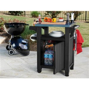 40-gal Graphite Grey Grill Prep and Storage Cart