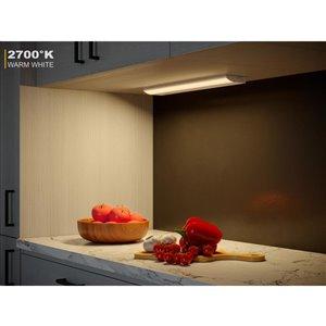 Good Earth Lighting Premium Slim LED Color Changing 18.0-in Hardwired Under cabinet LED light bar