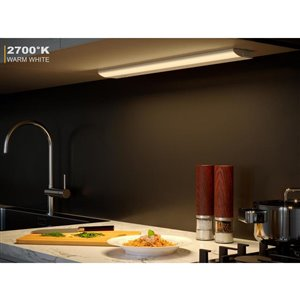 Good Earth Lighting Premium Slim LED Color Changing 24.0-in Hardwired Under cabinet LED light bar