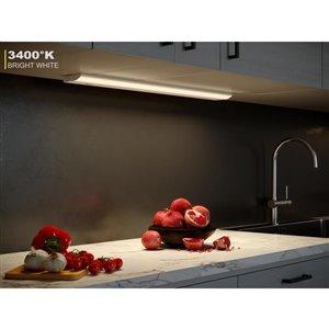 Good Earth Lighting Premium Slim LED Color Changing 30.0-in Hardwired Under cabinet LED light bar