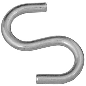 National Hardware N121-756- 2076 Open S Hooks in Zinc Plated