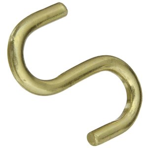 National Hardware N121-806- V2077 Open S Hooks Solid Brass in Solid Brass