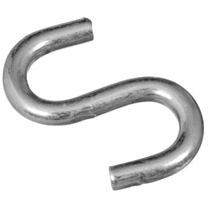 National Hardware N121-616- 2076 Open S Hooks in Zinc Plated