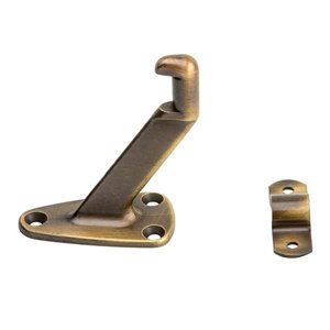 National Hardware 1-Pack Antique Brass Die cast steel Handrail bracket Handrail Brackets