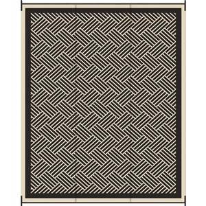 9-ft x 12-ft Grey and Black Hedinham Woven Outdoor Rug