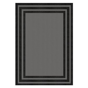 8-ft x 10-ft Fresco Baron Grey Black Outdoor Rug