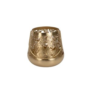 7.5-in Gold Palm Outdoor Candle Holder