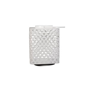 9-in White Metal Outdoor Lantern