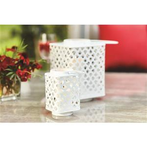 5.75-in White Metal Outdoor Lantern