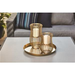 9-in Hurricane Metal Candle Holder