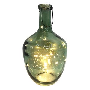 12-in Clear Glass Jug with LED Micro Lights