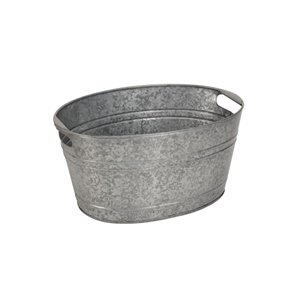 6-gal Galvanized Metal Beverage Tub