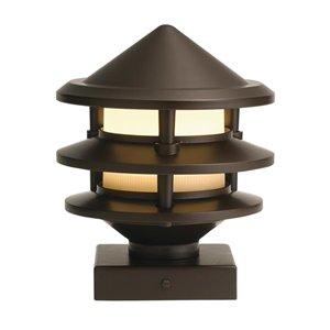 Kichler 1-Pack 3-Watt Olde Bronze Low voltage Plug-in LED Post Light