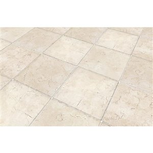 Del Conca Rialto White Thru Body Porcelain Floor and Wall Tile (Common: 12-in x 12-in; Actual: 11.81-in x 11.81-in)