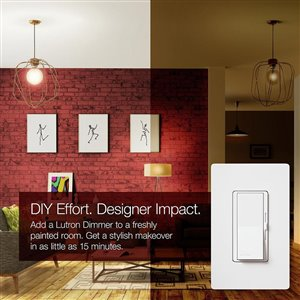 Lutron Diva C.L Dimmer Switch for Dimmable LED, Halogen and Incandescent Bulbs, Single-Pole or 3-Way, White (3-Pack)
