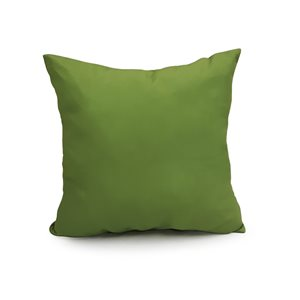 16-in Solid Green Polyester Toss Pillow