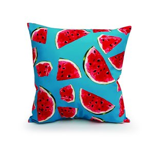 16-in Watermelon Polyester Toss Pillow