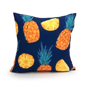 16-in Pineapple Polyester Toss Pillow