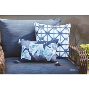 18-in Blue Shibori Cotton Toss Pillow