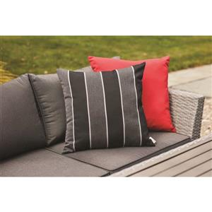 20-in Black Granite Polyester Toss Pillow