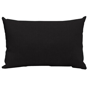 20-in Stark Black Solid Polyester Lumbar Pillow