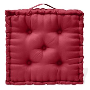 20-in Red Ribbon Polyester Floor Pillow